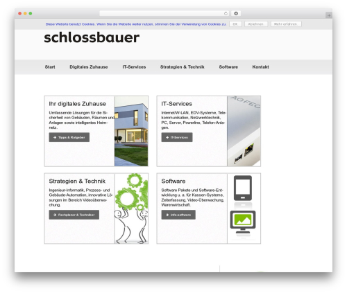 Best WordPress theme Catch Evolution Pro - schlossbauer.de