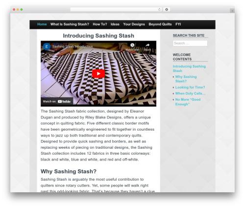 Claydell Media WordPress theme - sashingstash.com