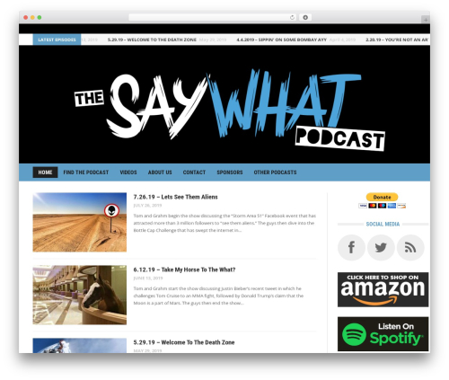 Headline News WordPress news theme - saywhatpodcast.com