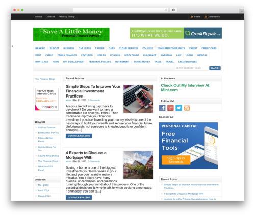 WordPress advads171 plugin - savealittlemoney.com