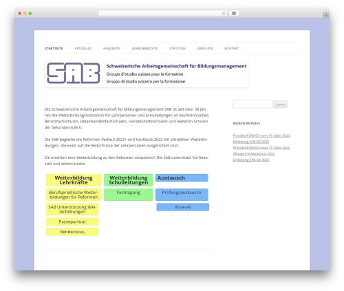 Twenty Twelve best free WordPress theme - sab-kv.ch