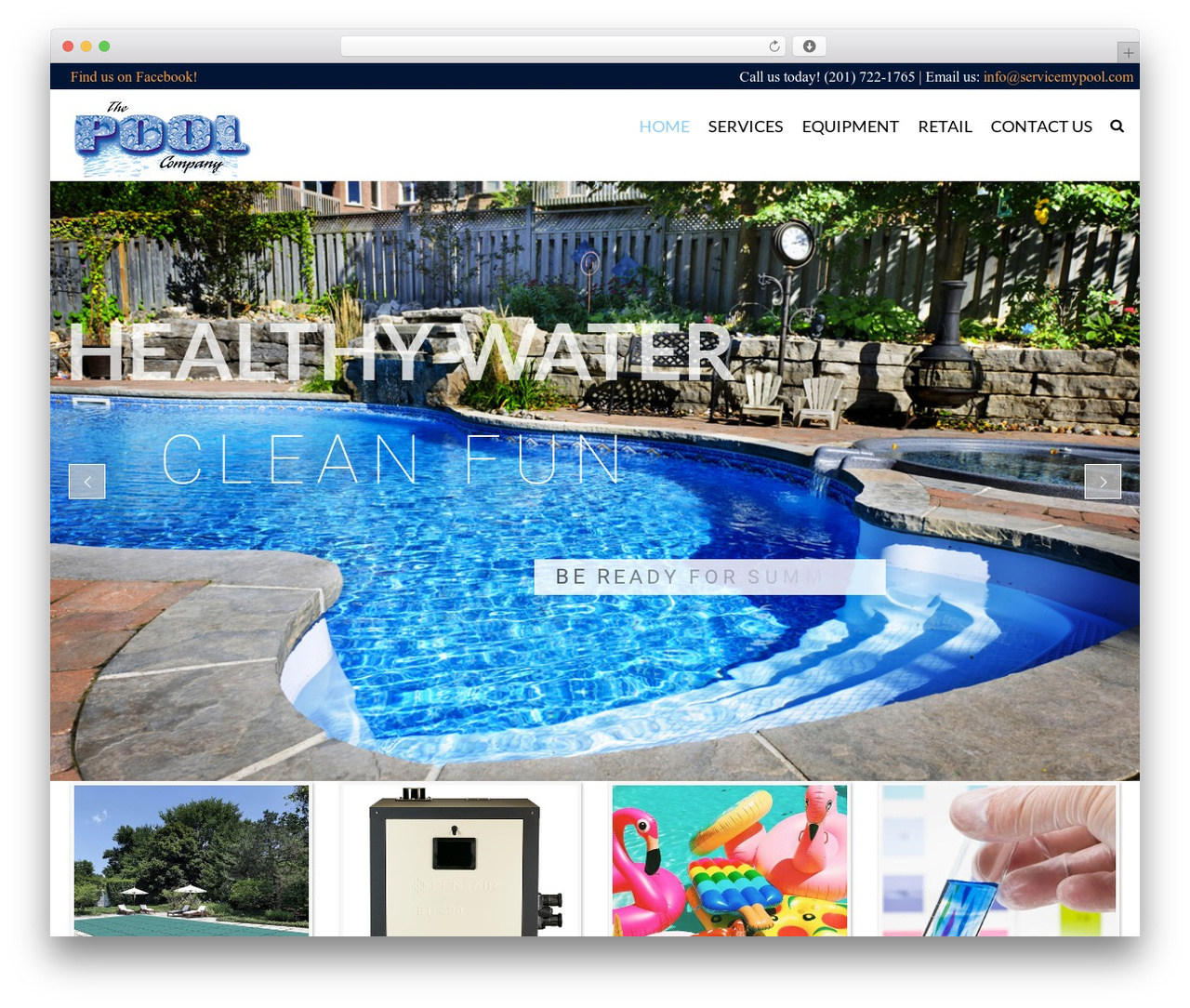 WordPress theme SwimmingPool - servicemypool.com