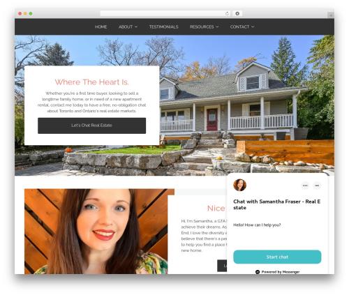 WordPress theme Tribe - samanthafraser.com
