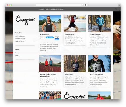 Best WordPress template Bulletin - samppioni.net