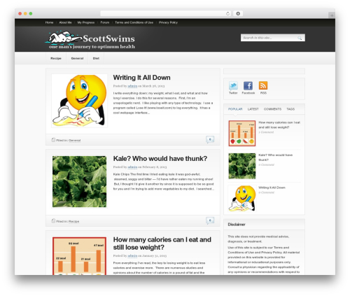 Bigfoot WordPress template - scottswims.com