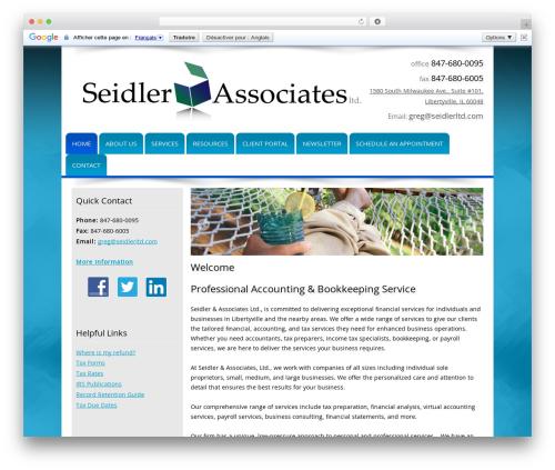 Customized company WordPress theme - seidlerltd.com