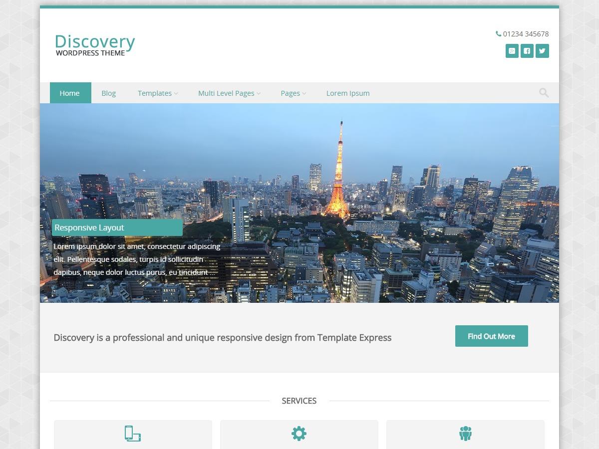 Discovery WordPress theme design