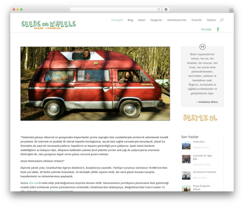 Divi template WordPress - seedsonwheels.com/tr