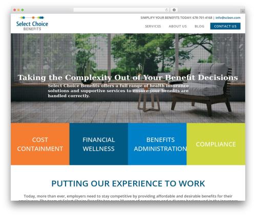 Edena theme WordPress - selectchoicebenefits.com