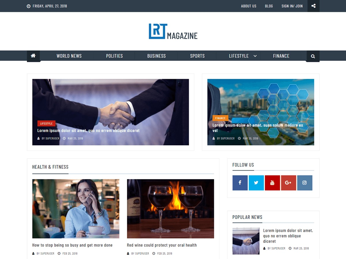 RT Magazine best WordPress magazine theme