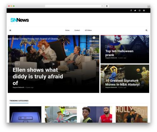 Videoly top WordPress theme - sayyonnetwork.com