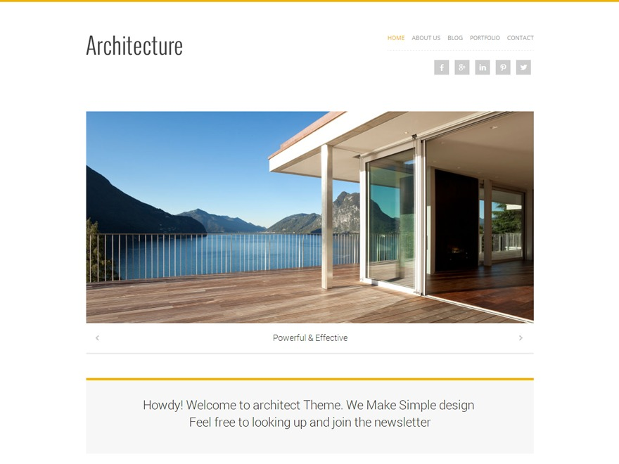 Architecture WordPress template for business