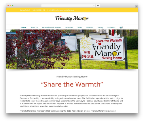 Avada WordPress theme design - friendlymanornursinghome.com