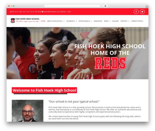 Avada WordPress theme - fishhoekhighschool.co.za