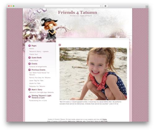 Best WordPress template Floral Belle - friends4tatumn.com