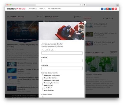 CleanMag WordPress template - trends.inycom.es