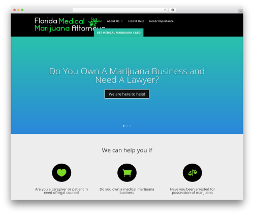Divi medical WordPress theme - floridamedicalmarijuanaattorneys.org