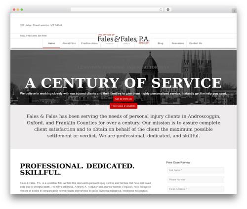 Enfold WordPress template for business - faleslaw.com