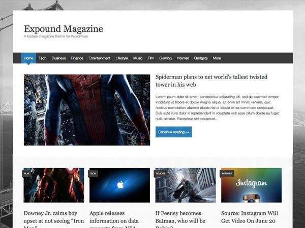 Expound Child WordPress magazine theme