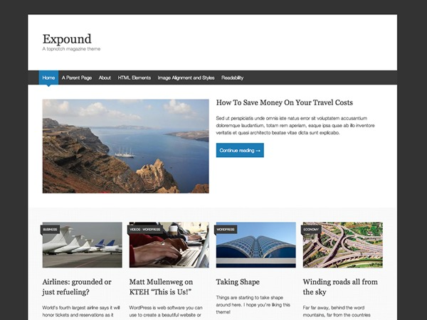 Expound – WordPress.com best WordPress magazine theme