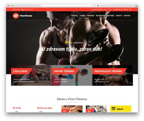 Fitnes, Sport, Gym WordPress template - floor-fitness.net