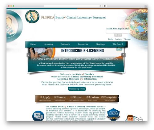 Florida Department of Health - Florida Board's Theme WP theme - floridasclinicallabs.gov