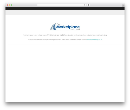Formation free WP theme - firstmarketplace.ca