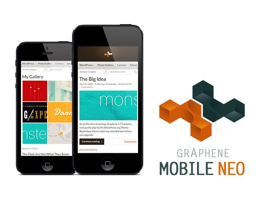 Graphene Mobile Neo top WordPress theme