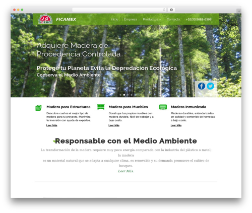 Green Earth WordPress theme - ficamex.com.mx