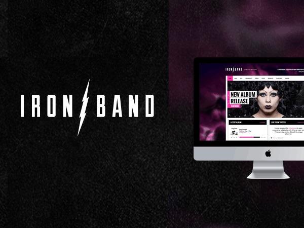 IronBand — Music Band & DJ Theme WordPress news template