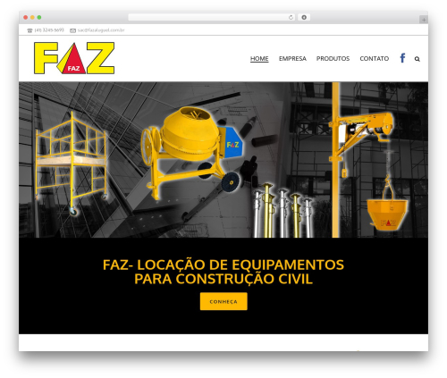 Jupiter top WordPress theme - fazaluguel.com.br