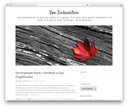 Lifestyle theme WordPress free - fortechwriters.com