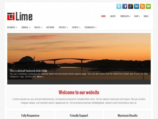 Lime WordPress theme design