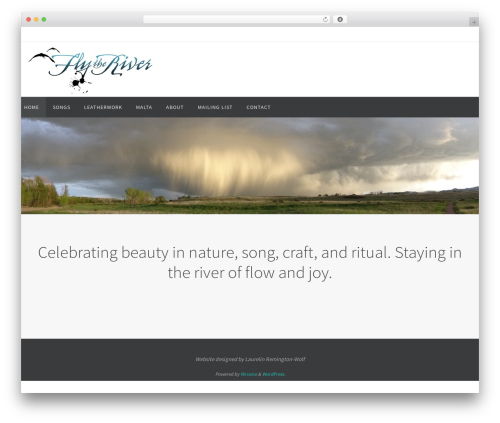 Nirvana WordPress template free download - flytheriver.com