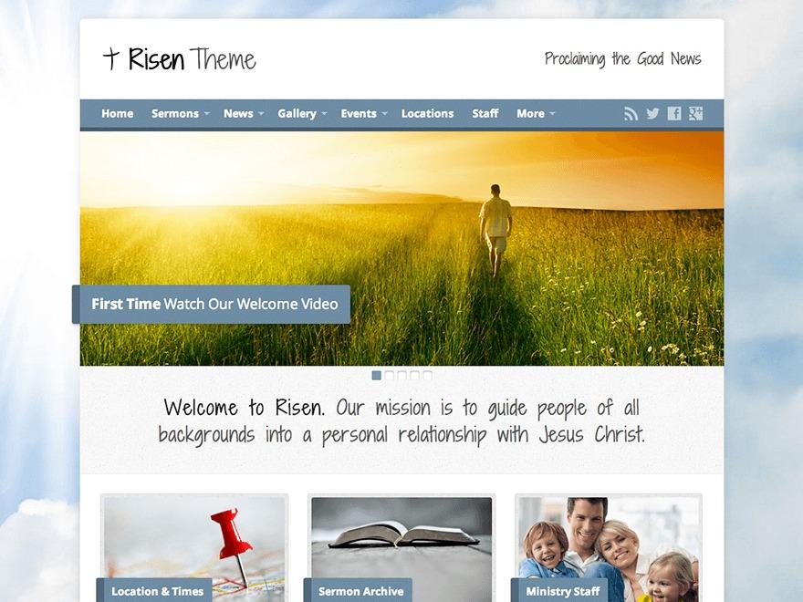Risen WordPress theme design