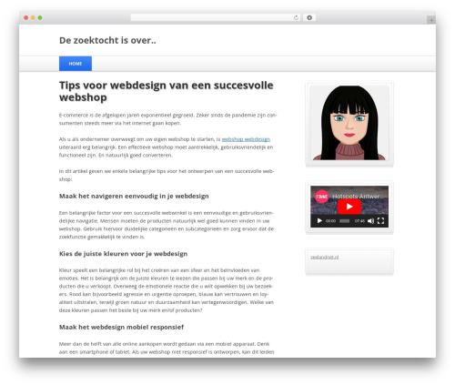 Silver Blue top WordPress theme - fortenantwerpen.be