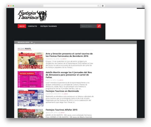 Today premium WordPress theme - festejostaurinos.com