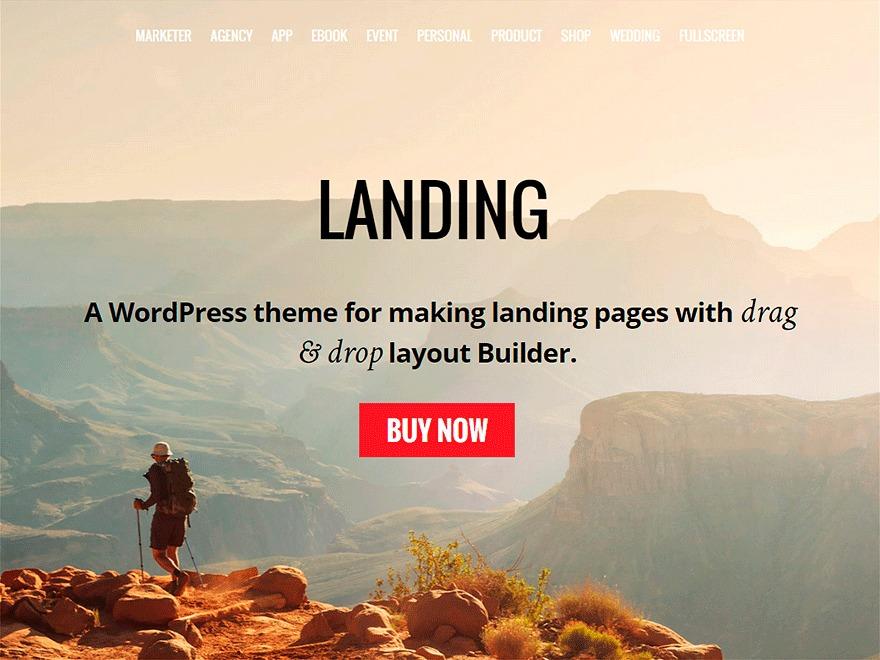 WordPress theme Landing Child