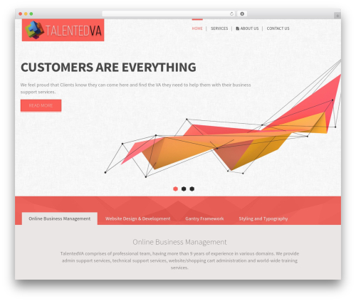 WordPress website template Epsilon - talentedva.com