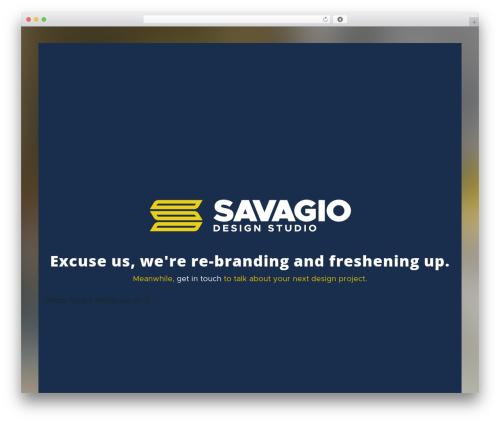 Betheme WordPress theme design - savagio.com