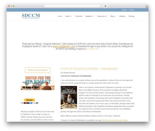 Divi theme WordPress - sdccm.org