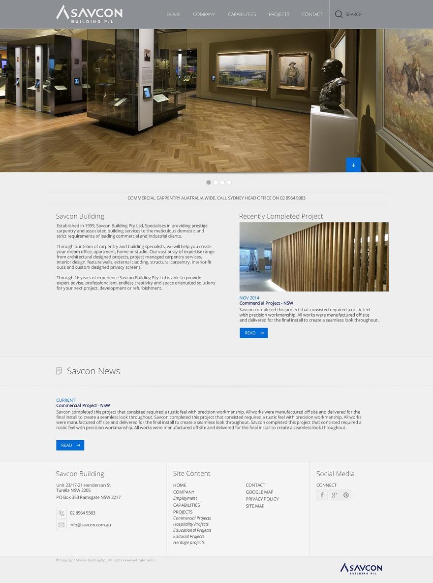 Savcon company WordPress theme