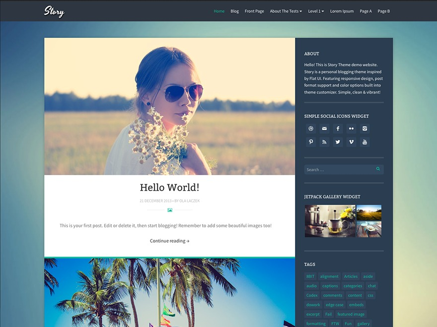 Story-Child WordPress blog template