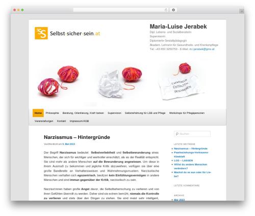 Twenty Eleven free WordPress theme - selbst-sicher-sein.at