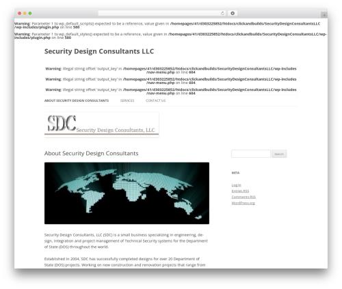 Twenty Twelve free WordPress theme - sdc-intl.com