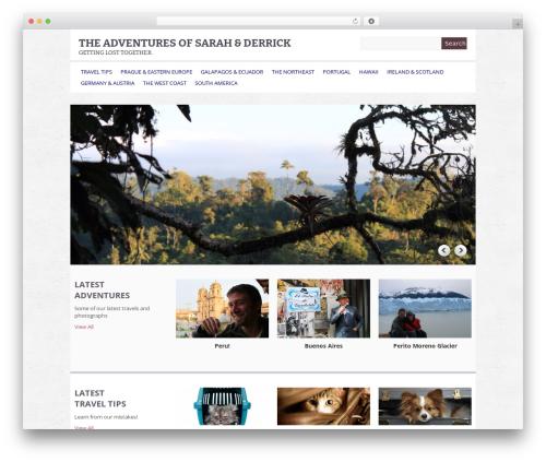 Yasmin WordPress theme - sarahandderrick.com