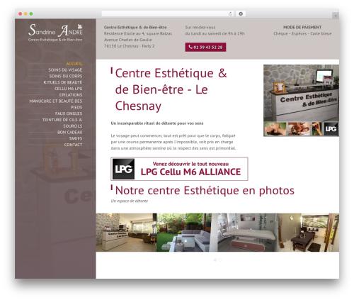 BeautySpot WordPress website template - sandrine-andre.com