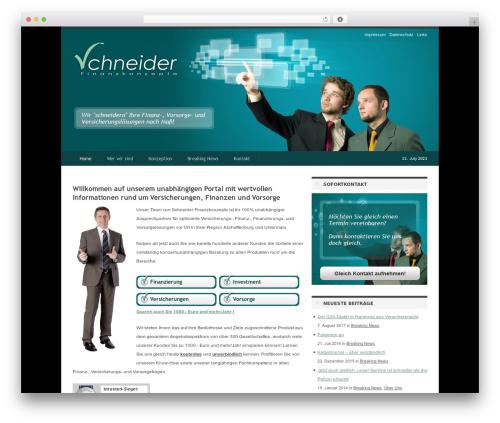 Best WordPress theme deFacto - schneider-finanzkonzepte.de