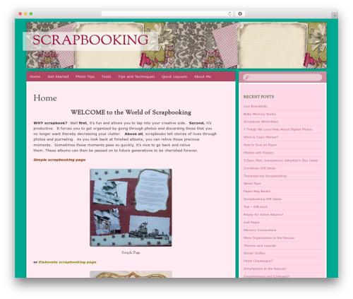 Bouquet WP theme - scrapbookingforanyone.com