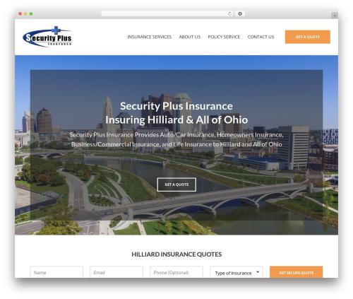 BrightFire Stellar business WordPress theme - securityplusinsurance.com